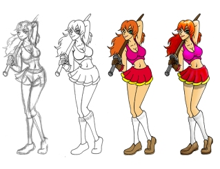 Sword Girl Progression